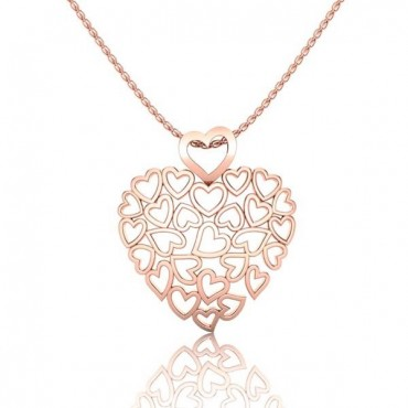 Suzie Heart Pendant - Rose Gold