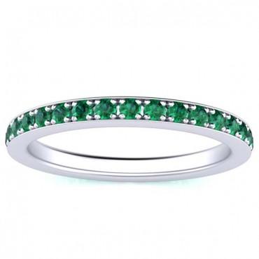 Sydney Emerald Eternity Ring - White Gold