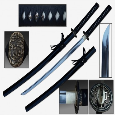 Defender 40 1/2 in. Hand Forged Samurai Sword 1060 Carbon Steel Shinogi Zukuri Style Blade