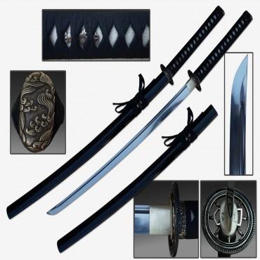Defender 40 1/2 in. Hand Forged Samurai Sword 1060 Carbon Steel Shinogi Zukuri Style Blade