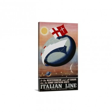 Italian Line Poster - Canvas - Gallery Wrap