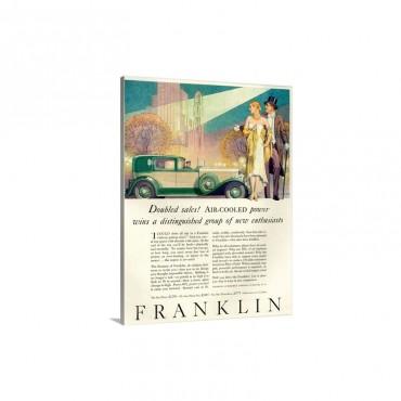 1920's USA Franklin Magazine Advert Wall Art - Canvas - Gallery Wrap