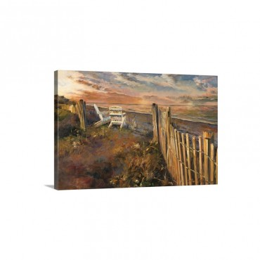 The Beach at Sunset Wall Art - Canvas - Gallery Wrap