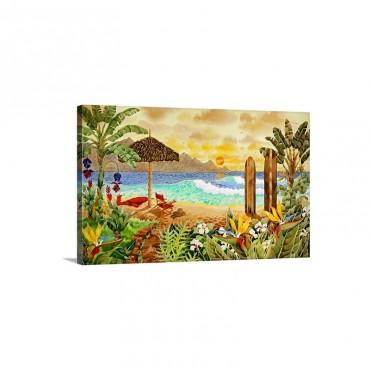 Surfing the Islands Wall Art - Canvas - Gallery Wrap