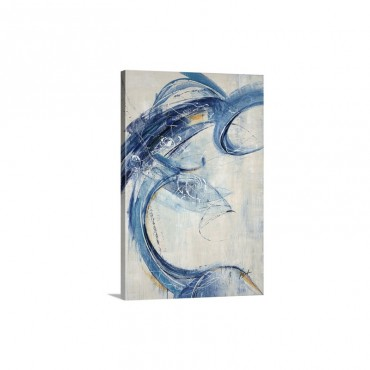 Blue Sweep Wall Art - Canvas - Gallery Wrap
