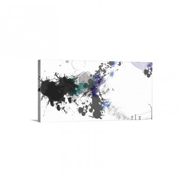A scattering of Black and Gray Wall Art - Canvas - Gallery Wrap