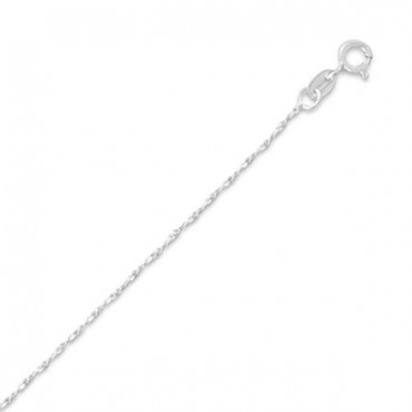 035 Twisted Serpentine Chain Necklace - 1 mm