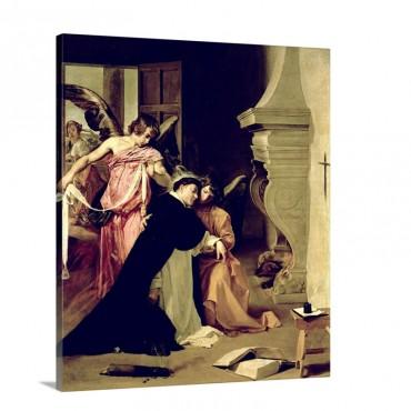 Temptation Of St Thomas Aquinas Wall Art - Canvas - Gallery Wrap