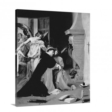 Temptation Of St Thomas Aquinas Wall Art - Canvas - Gallery Wrap