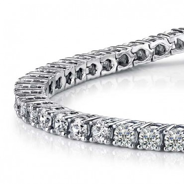 Tennis Diamond Bracelet - White Gold