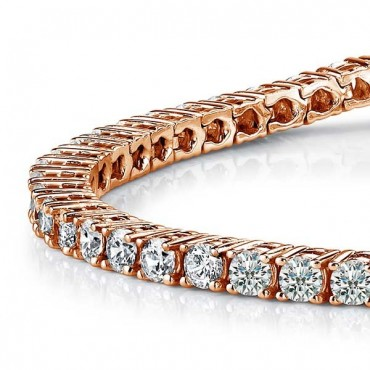 Tennis Diamond Bracelet - Rose Gold