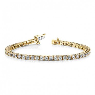 Tennis Diamond Bracelet - Yellow Gold