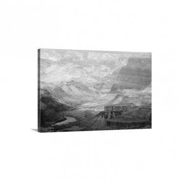 The Colorado River And The Grand Canyon From The South Rim Wall Art - Canvas - Gallery Wrap