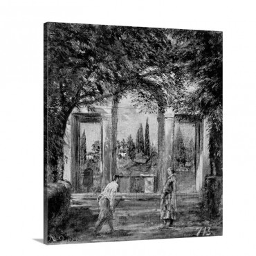 The Gardens Of The Villa Medici In Rome C 1650 51 Wall Art - Canvas - Gallery Wrap