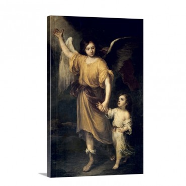 The Guardian Angel Wall Art - Canvas - Gallery Wrap