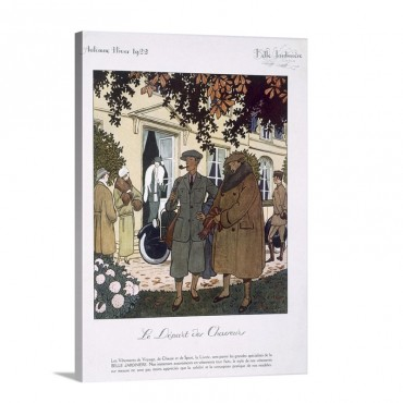 The Hunters On Their Way Illustration From La Belle Jardinere 1922 Wall Art - Canvas - Gallery Wrap