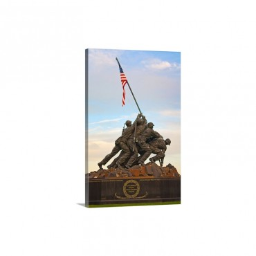 The Marine Corps War Memorial Also Called The Iwo Jima Memorial Wall Art - Canvas - Gallery Wrap