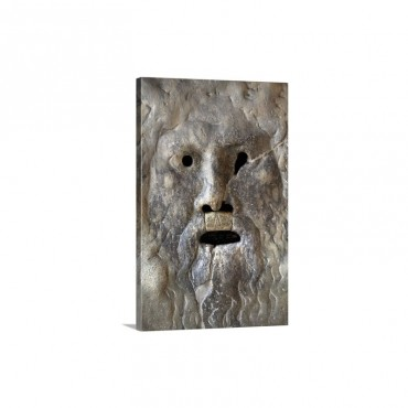 The Mouth Of Truth At The Church Of Santa Maria In Cosmedin Rome Italy Wall Art - Canvas - Gallery Wrap