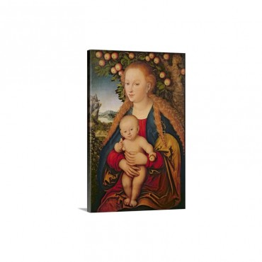 The Virgin And Child Under An Apple Tree 1520 26 Wall Art - Canvas - Gallery Wrap