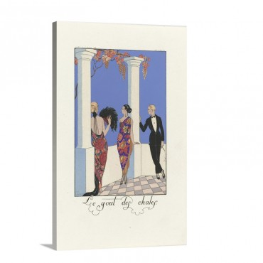 The fashion For Shawls From The Series Falbalas And Fanfreluches 1922 Wall Art - Canvas - Gallery Wrap