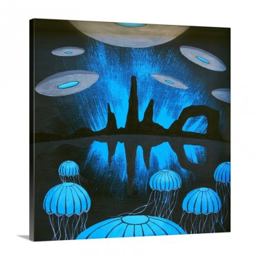 The Thing You'll See Near The Canyons At Night Wall Art - Canvas - Gallery Wrap