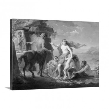 Thetis Entrusting Achilles To The Centaur Chiron By Pompeo Batoni Before 1761 Wall Art - Canvas - Gallery Wrap