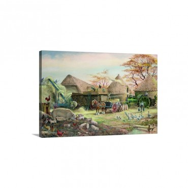 Threshing In Kent Wall Art - Canvas - Gallery Wrap
