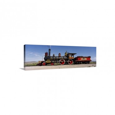 Train Engine On A Railroad Track Locomotive 119 Golden Spike National Historic Site Utah Wall Art - Canvas - Gallery Wrap
