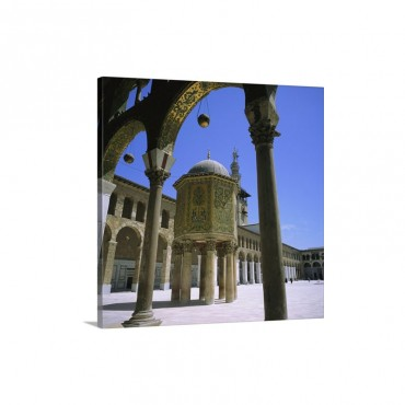 Treasury Covered In Mosaic Great Mosque Damascus Syria Wall Art - Canvas - Gallery Wrap