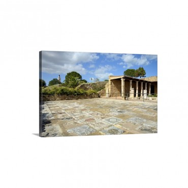 Tunisia Tunis Carthage Roman Villa With Mosaic Flooring Wall Art - Canvas - Gallery Wrap