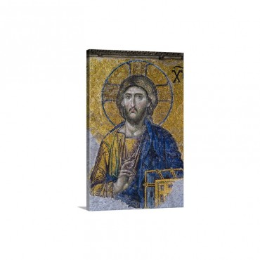 Turkey Hagia Sophia Mosque Close Up Of Mosaic Depicting Jesus Christ Wall Art - Canvas - Gallery Wrap