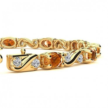 Twist Citrine Bracelet - Yellow Gold