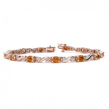 Twist Citrine Bracelet - Rose Gold