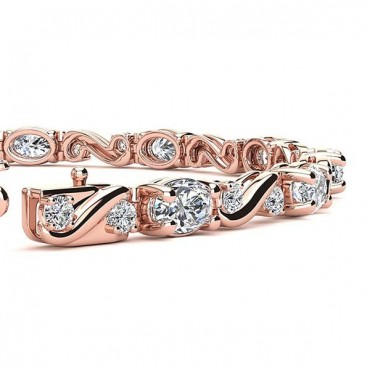 Twist Diamond Bracelet - Rose Gold