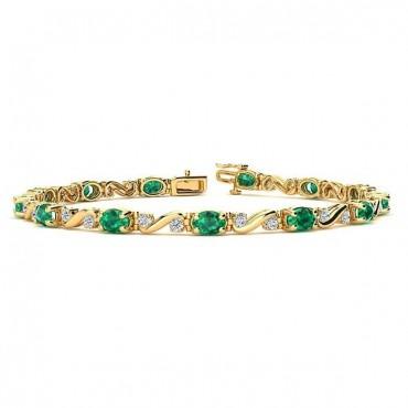 Twist Emerald Bracelet - Yellow Gold