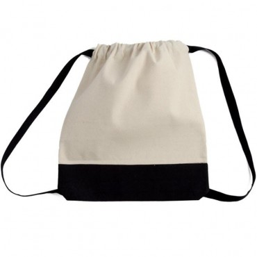 Canvas Sport Drawstring Backpack - 2 Pieces