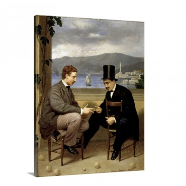 Two Players Of Morra By Pietro Barabino Wall Art - Canvas - Gallery Wrap