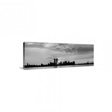 US New York City Skyline Sunrise Wall Art - Canvas - Gallery Wrap