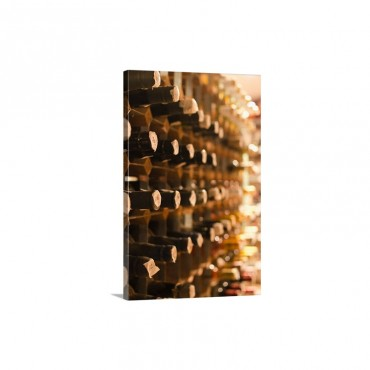 United Kingdom Bristol Old Wine Bottles On Cellar Shelves Wall Art - Canvas - Gallery Wrap