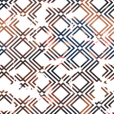 Geometric Copper And Navy