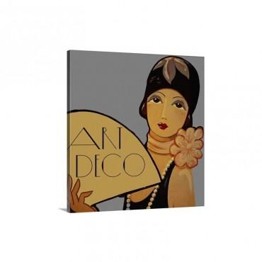 Art Deco Flapper Wall Art - Canvas - Gallery Wrap