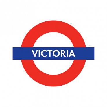 London Underground Victoria Station Roundel