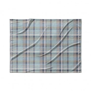 Madras Plaid In Blue And Gray