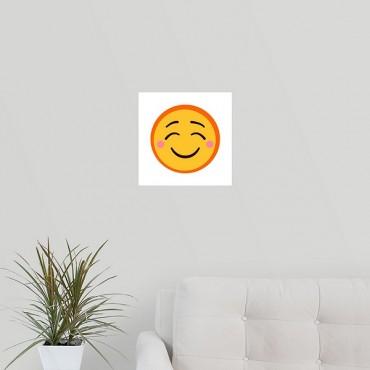 Content Rosy Cheeked Emoji