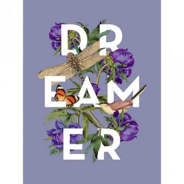 Dreamer Vintage Floral Collage