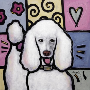 Standard Poodle White Pop Art