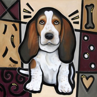 Basset Hound Pop Art