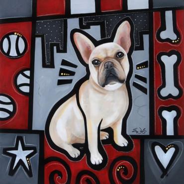 French Bulldog Pop Art