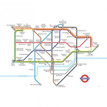 London Underground Zone One Map