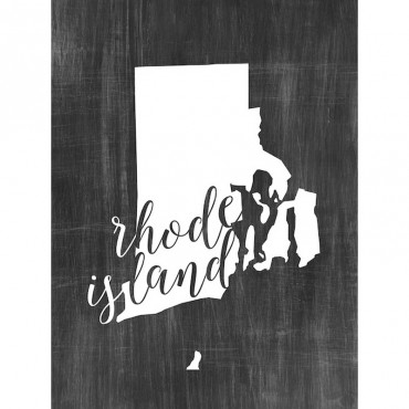 Home State Typography Rhode Island